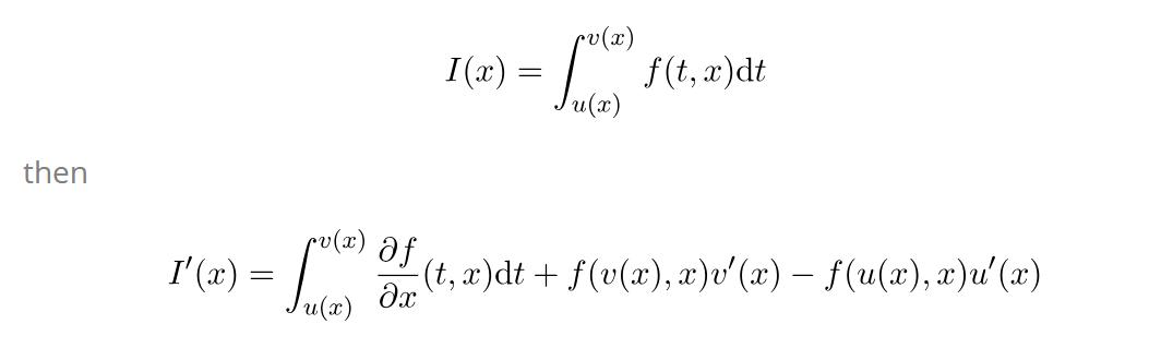 Leibniz rule general case